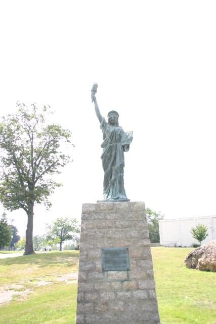 a knockoff statue of liberty at kennedy park submitted by snflwr1119